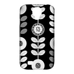 Floral Pattern Seamless Background Samsung Galaxy S4 Classic Hardshell Case (PC+Silicone)