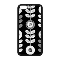 Floral Pattern Seamless Background Apple iPhone 5C Seamless Case (Black)