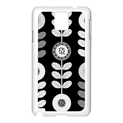 Floral Pattern Seamless Background Samsung Galaxy Note 3 N9005 Case (White)