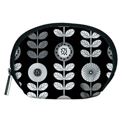 Floral Pattern Seamless Background Accessory Pouches (Medium)