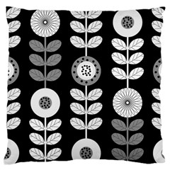 Floral Pattern Seamless Background Large Flano Cushion Case (Two Sides)