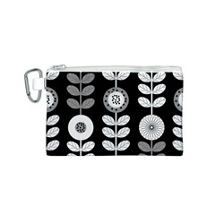 Floral Pattern Seamless Background Canvas Cosmetic Bag (S)