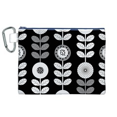 Floral Pattern Seamless Background Canvas Cosmetic Bag (XL)