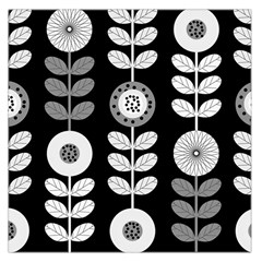 Floral Pattern Seamless Background Large Satin Scarf (square)