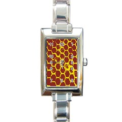 Network Grid Pattern Background Structure Yellow Rectangle Italian Charm Watch