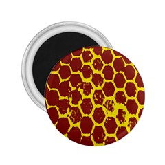 Network Grid Pattern Background Structure Yellow 2 25  Magnets