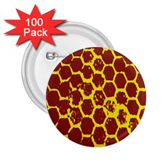 Network Grid Pattern Background Structure Yellow 2 25  Buttons (100 Pack)