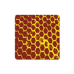 Network Grid Pattern Background Structure Yellow Square Magnet