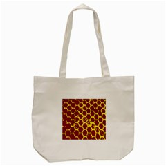 Network Grid Pattern Background Structure Yellow Tote Bag (cream)