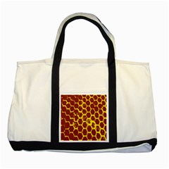 Network Grid Pattern Background Structure Yellow Two Tone Tote Bag