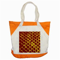 Network Grid Pattern Background Structure Yellow Accent Tote Bag