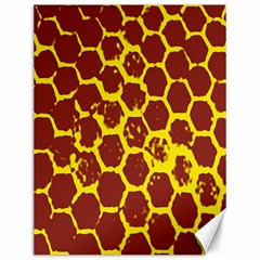 Network Grid Pattern Background Structure Yellow Canvas 12  x 16