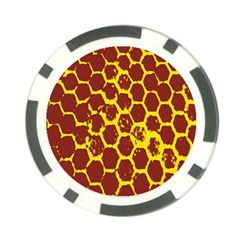 Network Grid Pattern Background Structure Yellow Poker Chip Card Guard (10 pack)