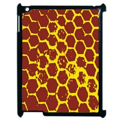 Network Grid Pattern Background Structure Yellow Apple iPad 2 Case (Black)