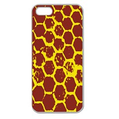 Network Grid Pattern Background Structure Yellow Apple Seamless iPhone 5 Case (Clear)