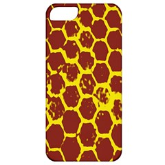 Network Grid Pattern Background Structure Yellow Apple iPhone 5 Classic Hardshell Case