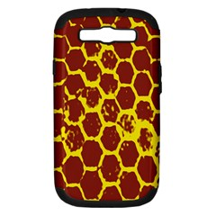 Network Grid Pattern Background Structure Yellow Samsung Galaxy S III Hardshell Case (PC+Silicone)
