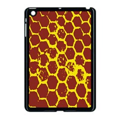 Network Grid Pattern Background Structure Yellow Apple iPad Mini Case (Black)