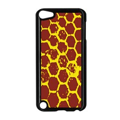 Network Grid Pattern Background Structure Yellow Apple iPod Touch 5 Case (Black)