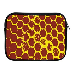 Network Grid Pattern Background Structure Yellow Apple iPad 2/3/4 Zipper Cases