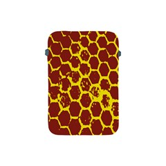 Network Grid Pattern Background Structure Yellow Apple iPad Mini Protective Soft Cases