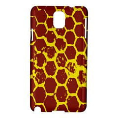 Network Grid Pattern Background Structure Yellow Samsung Galaxy Note 3 N9005 Hardshell Case