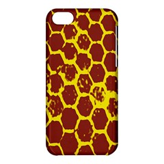 Network Grid Pattern Background Structure Yellow Apple iPhone 5C Hardshell Case