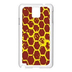 Network Grid Pattern Background Structure Yellow Samsung Galaxy Note 3 N9005 Case (White)