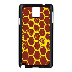 Network Grid Pattern Background Structure Yellow Samsung Galaxy Note 3 N9005 Case (Black)