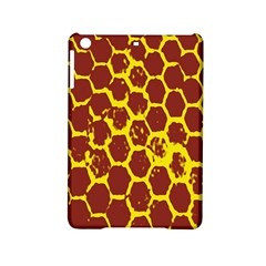 Network Grid Pattern Background Structure Yellow iPad Mini 2 Hardshell Cases