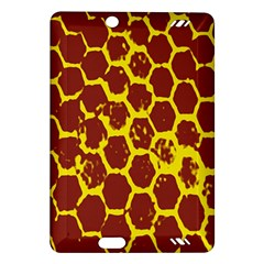 Network Grid Pattern Background Structure Yellow Amazon Kindle Fire Hd (2013) Hardshell Case