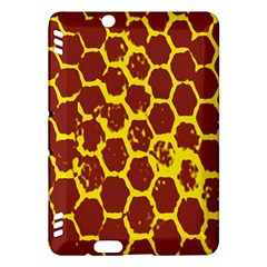 Network Grid Pattern Background Structure Yellow Kindle Fire HDX Hardshell Case