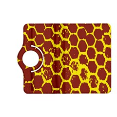 Network Grid Pattern Background Structure Yellow Kindle Fire HD (2013) Flip 360 Case