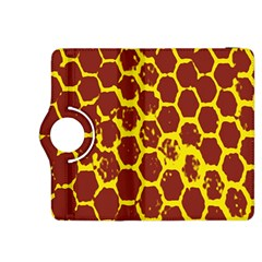 Network Grid Pattern Background Structure Yellow Kindle Fire HDX 8.9  Flip 360 Case