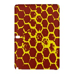Network Grid Pattern Background Structure Yellow Samsung Galaxy Tab Pro 10.1 Hardshell Case