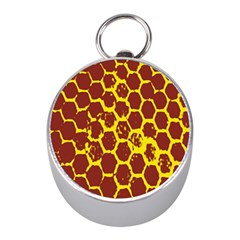 Network Grid Pattern Background Structure Yellow Mini Silver Compasses