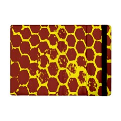 Network Grid Pattern Background Structure Yellow iPad Mini 2 Flip Cases