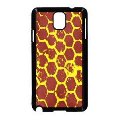 Network Grid Pattern Background Structure Yellow Samsung Galaxy Note 3 Neo Hardshell Case (Black)