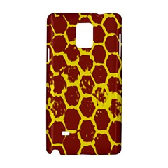 Network Grid Pattern Background Structure Yellow Samsung Galaxy Note 4 Hardshell Case