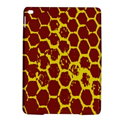Network Grid Pattern Background Structure Yellow iPad Air 2 Hardshell Cases