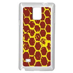 Network Grid Pattern Background Structure Yellow Samsung Galaxy Note 4 Case (white)