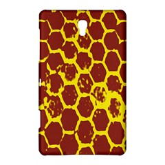 Network Grid Pattern Background Structure Yellow Samsung Galaxy Tab S (8.4 ) Hardshell Case
