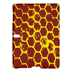 Network Grid Pattern Background Structure Yellow Samsung Galaxy Tab S (10 5 ) Hardshell Case