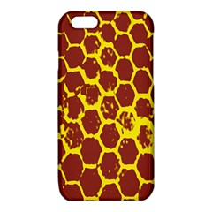 Network Grid Pattern Background Structure Yellow iPhone 6/6S TPU Case