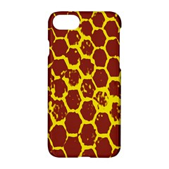 Network Grid Pattern Background Structure Yellow Apple Iphone 7 Hardshell Case