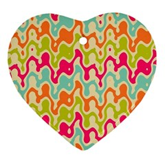 Abstract Pattern Colorful Wallpaper Ornament (Heart)