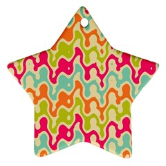 Abstract Pattern Colorful Wallpaper Ornament (star)