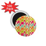 Abstract Pattern Colorful Wallpaper 1.75  Magnets (100 pack)  Front