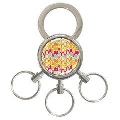 Abstract Pattern Colorful Wallpaper 3-Ring Key Chains