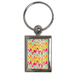 Abstract Pattern Colorful Wallpaper Key Chains (Rectangle)